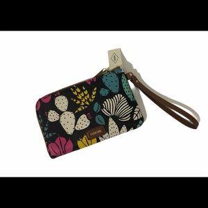 🌸New🌸Fossil zip closure mini wallet